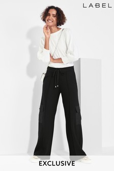 Next/Mix Jersey Cargo Trousers