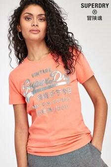 Superdry Coral Metallic T-Shirt