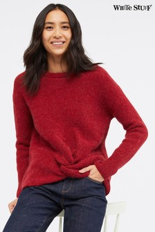 White Stuff Twist Front Rib Jumper