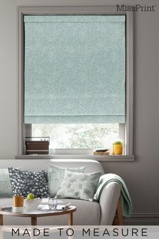Laurus Broadleaf Green Made To Measure Roman Blind by MissPrint