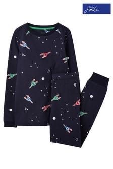 Joules Blue Snooze Printed Pyjama Set