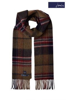 Joules Tytherton Wool Checked Scarf