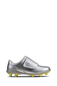 Clarks Silver Kinetic Run K Sports Trainers