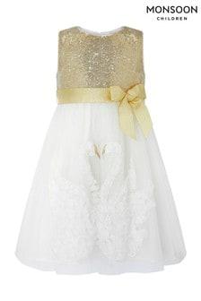 Monsoon Baby Swara Swan Dress