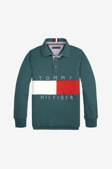 Tommy Hilfiger Boys Flag Long Sleeve Polo