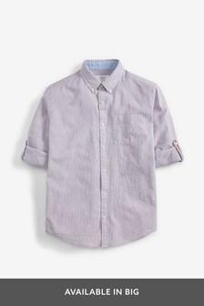 Linen Blend Roll Sleeve Shirt