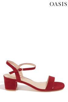Oasis Pink Dolly Low Heeled Sandals