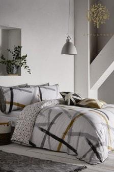 Appletree Leda Geo Duvet Cover and Pillowcase Set