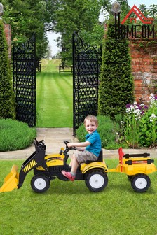 Kids Excavator Style Ride-On Vehicle With Pedals By HOMCOM