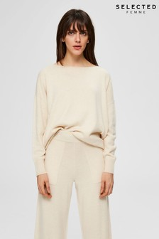 Selected Femme Cream Supersoft Naya Jumper