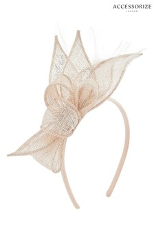 Accessorize Gold Olivia Petal And Loops Fascinator