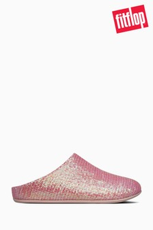 FitFlop™ Pink Chrissie Sequin Slippers
