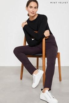 Mint Velvet Dark Red Joliet Merlot Skinny Jeans