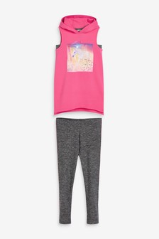 Sleeveless Hoodie And Leggings Set (3-16yrs)