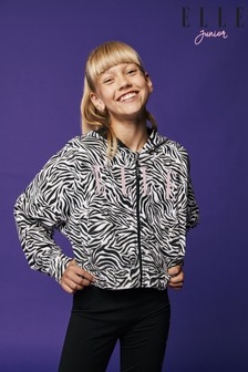 Elle Zebra Zip Through Sweatshirt