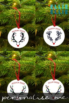 Personalised Reindeer Antler Decoration by Ellie Ellie
