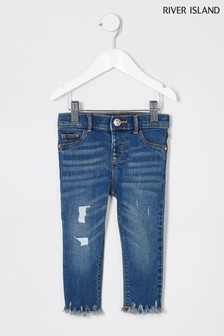 River Island Boomtown Jeans, Blau