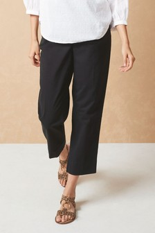 Belted Cropped Trousers
