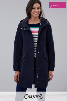 Joules Blue Loxley Longline Waterproof Jacket
