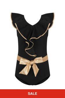 Nessi Byrd Girls Black Swimsuit