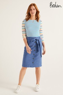 Boden Blue Summerson Pencil Skirt