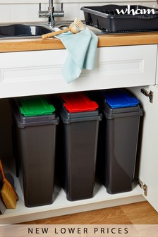 Set of 3 Recycle It 25L Slimline Bins by Wham