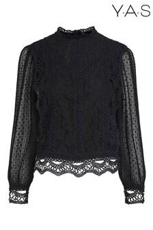Y.A.S Black Lace Sophira Blouse