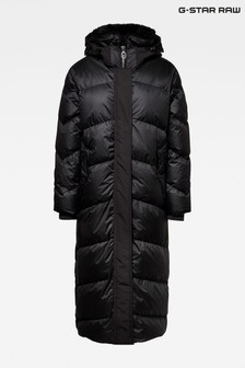 G-Star Black Whistler Hooded Down Long Parka