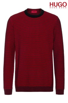 HUGO Structured Knit Jumper