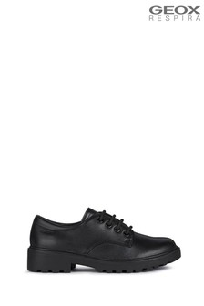 Geox Junior Girls' Casey Black Shoes