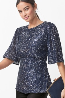 Sequin Vintage Style Top