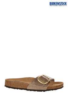 Birkenstock® Taupe Big Buckle Madrid Sandals