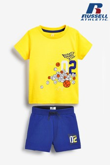 Russel Athletic Basket Ball T-Shirt And Shorts Set