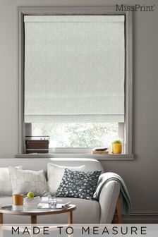 Laurus Stonewash Grey Made To Measure Roman Blind by MissPrint