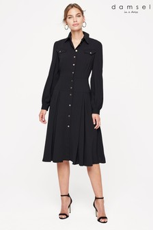 Damsel In A Dress Black Sancia Trench Dress