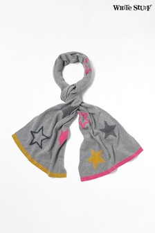 White Stuff Grey Paper Stars Scarf