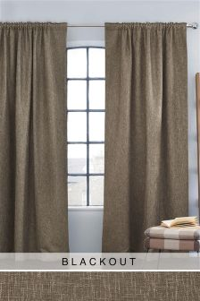 Bouclé Pencil Pleat Blackout/Thermal Curtains