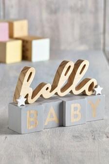 Hello Baby Word Block