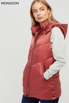 Monsoon Pink Jessica Padded Gilet
