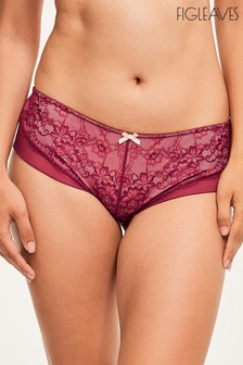 Figleaves Purple Juliette Lace Shorts
