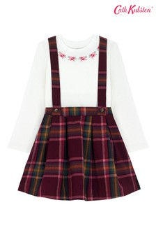 Cath Kidston® Purple Kids Clarendon Check Pinafore