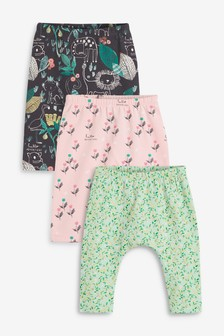 3 Pack GOTS Organic Cotton Leggings (0mths-2yrs)