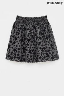 White Stuff Grey Kids Superstar Burnout Velvet Skirt