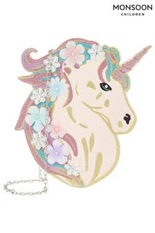 Monsoon Multi Celeste Glitter Unicorn Bag