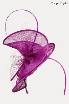 Phase Eight Purple Karlen Fascinator