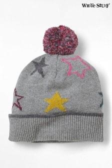 White Stuff Grey Paper Stars Hat