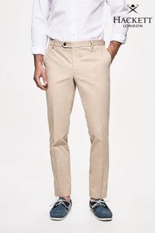 Hackett Brown Kensington Slim Chino Trousers