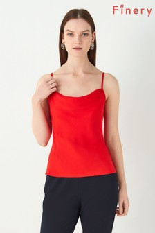 Finery London Red Rosslyn Cami Top