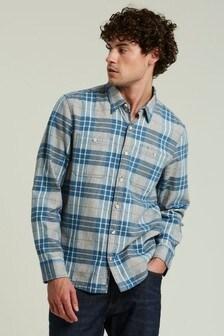 FatFace Tall Blue Campden Check Shirt