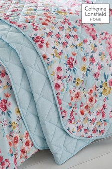 Flower Patchwork Bedspread by Catherine Lansfield